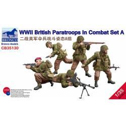 British Paratroops in combat. WWII.