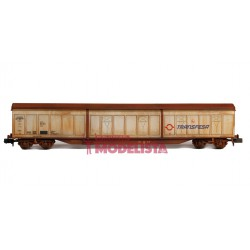 Sliding walls wagon Habis, Transfesa. Weathered.