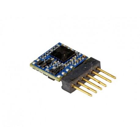 LokPilot Micro V5.0 decoder, 6-pin plug. Multiprotocol.