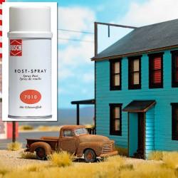Spray rust effect.