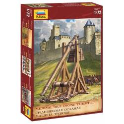 Trebuchet: medieval siege engine.