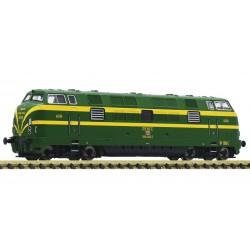 Diesel locomotive series 340, RENFE. Sound.