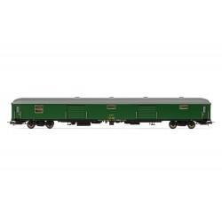 Furgón de equipaje D11-11400, RENFE. Verde.