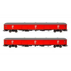Set de 2 furgones DD-8100, RENFE. Paquexpres.