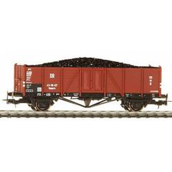 Vagón DR de bordes con carga de carbón.