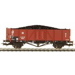 Vagón DR de bordes con carga de carbón. LILIPUT 221732