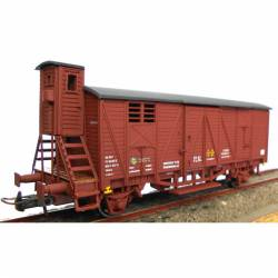Boxcar with brakemans cab, RENFE.