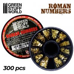 Roman numbers.