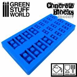 Silicone molds - Concrete Bricks.