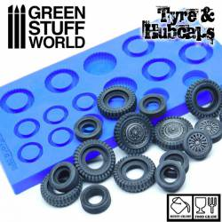 Silicone molds - Tyres and hubcaps.