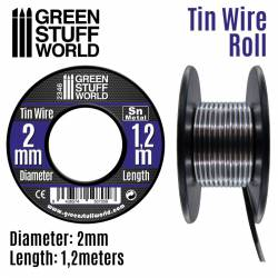 Flexible tin wire roll 2mm.
