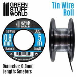 Flexible tin wire roll 0,8mm.