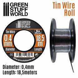 Flexible tin wire roll 0,5mm.
