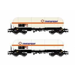 Set de vagones cisterna Zags, Transfesa.