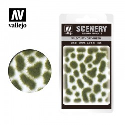 Wild turf, dry green (2mm).