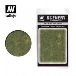 Wild tuft, dry green (12mm).