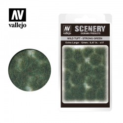 Wild tuft, strong green (12mm).