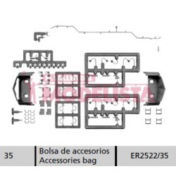 Accesories bag for RENFE 252.
