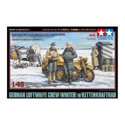Soldados de la Luftwaffe en invierno.