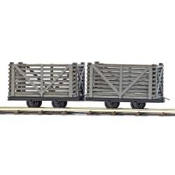 2 Tipper Wagons with logs. H0f.
