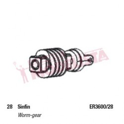 Worm gear cover. RENFE 440.