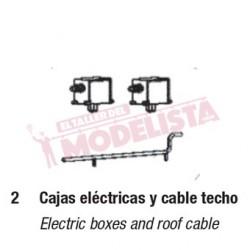 Caja eléctrica y cable de techo para RENFE 440.