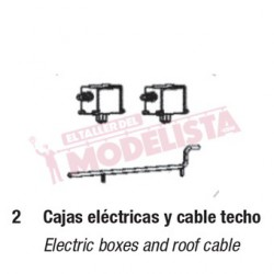 Electric box and ceiling cable for RENFE 440.