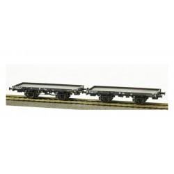 Set de vagones llanos ex-PLM, SNCF.