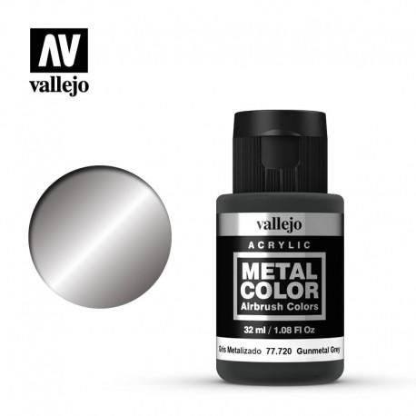 Semi matt aluminium.