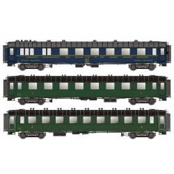 Set de coches OCEM y CIWL, SNCF.