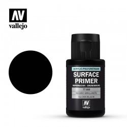 Imprimación acrílica uretano negro brillante.