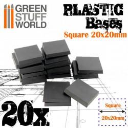 Peanas de plástico, 20 mm (x20).