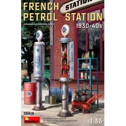 Petrol station. France, 30s-40s.