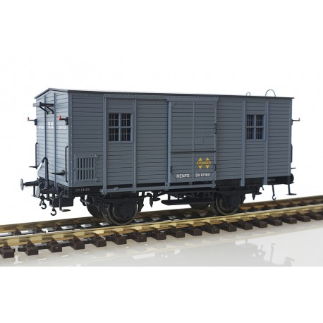 Wooden van DV61163, RENFE.