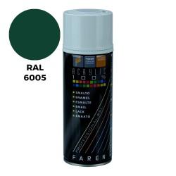 Moss green. Spray, 400ml. RAL 6005. FAREN