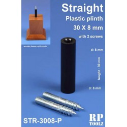 Plinth for bases, straight shape. Plastic 30x8 mm.