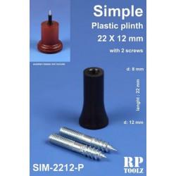 Plinth for bases, simple shape. Plastic 22x12 mm.