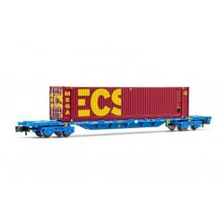 Vagón porta contenedores MMC, ECS Bulk. RENFE.