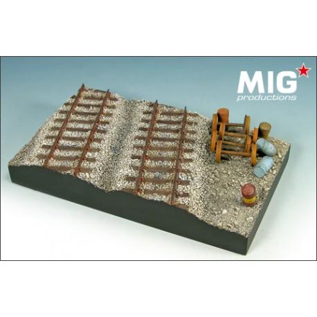 Base para diorama de ferrocarril . MIG 72-354