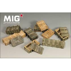 WWII soviet ammo boxes. MIG 35-111