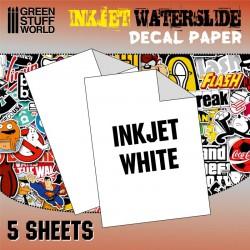 Inkjet water-slide decal white paper.