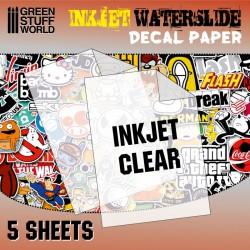 Inkjet/copier water-slide decal clear paper.