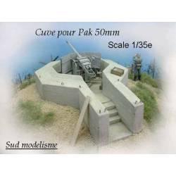 Puesto defensivo cañón de 50 mm. PN SUD MODELISME 3513