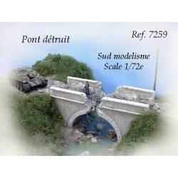 Puente destruido. PN SUD MODELISME 7259