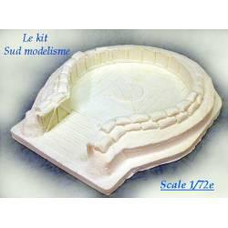 Wooden vat with sand bags. PN SUD MODELISME 7220