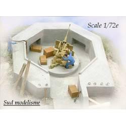 Puesto defensivo para FLAK 20 mm. PN SUD MODELISME 7216