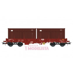 """Wagon CP Sgs, with """"SOCARMAR"""" containers."""