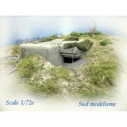 Blockhouse with embrasure for observation. PN SUD MODELISME 7201