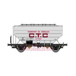 """Vagones cerealeros Richard """"CTC Cotram."""", SNCF."""