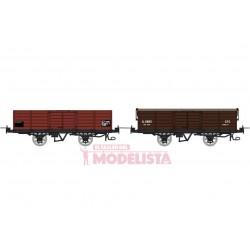 Set open wagons, Gv 5816 + 5855.